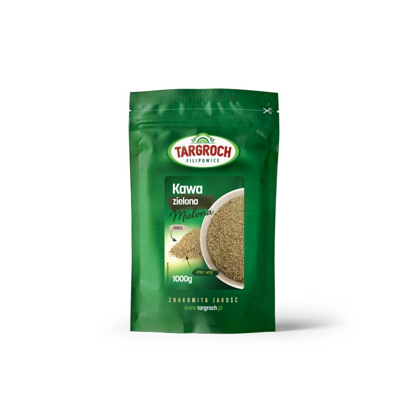 TARGROCH Kawa zielona mielona 1000 g