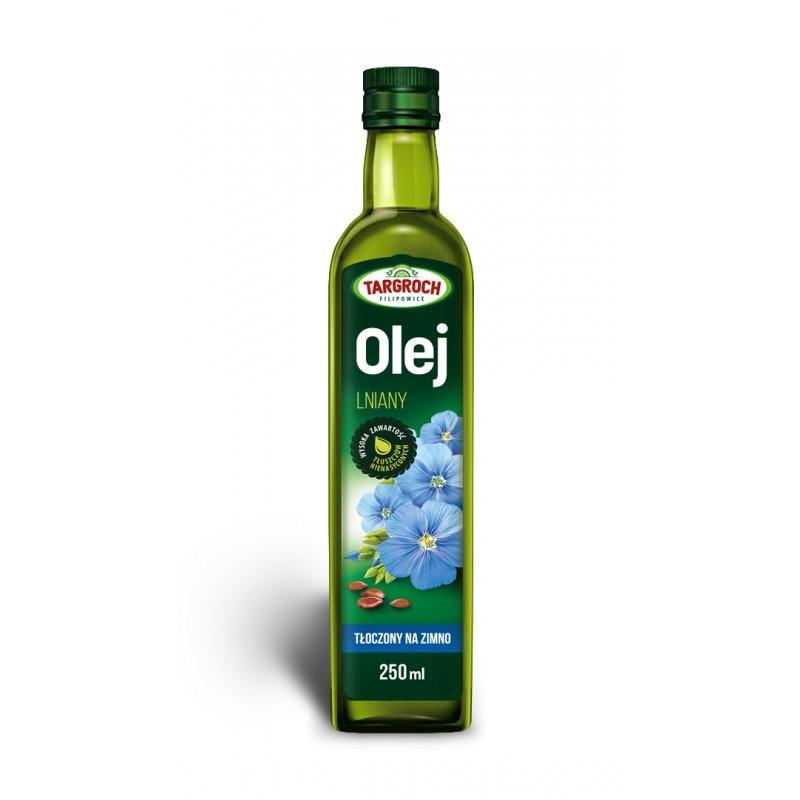 Olej lniany zimnotłoczony nierafinowany  250 ml