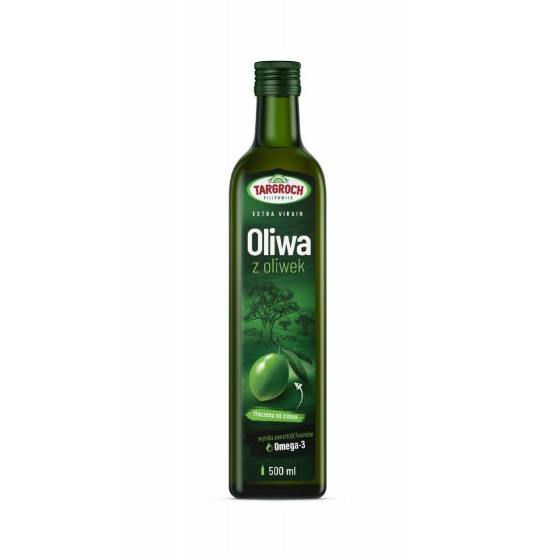 Oliwa z oliwek Extra Virgin tłoczona na zimno Targroch 500 ml
